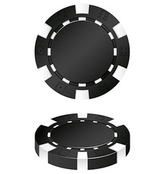 Two black casino chips vector