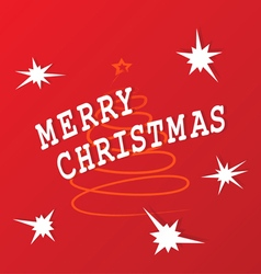 Festive congratulating on christmas on a red vector