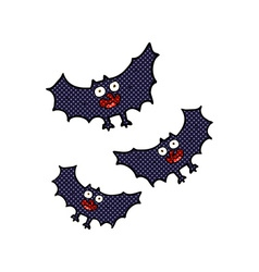 Comic cartoon bats vector