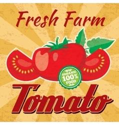 Retro tomato poster vector image