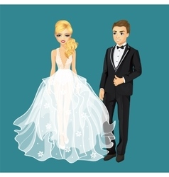 Happy Just Married Couple vector image