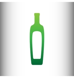 Olive oil bottle sign vector
