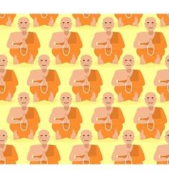 Shaolin monk seamless pattern Tibetan monk vector image