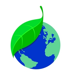 Icon plant and earth vector