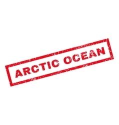 Arctic ocean rubber stamp vector