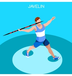 Athletics javelin 2016 summer games 3d vector