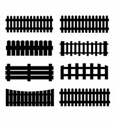 black fences on the white background vector image