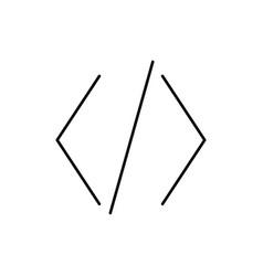 brackets code coding development icon vector image