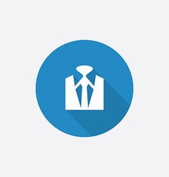 Business wear flat blue simple icon with long vector