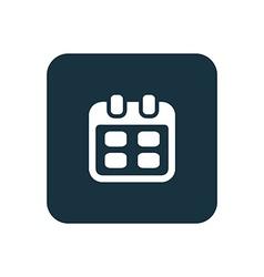 Calendar icon rounded squares button vector