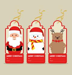 Christmas gift voucher gift card vector