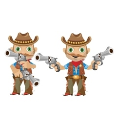 Cool man with a gun in wild West style vector image vector image