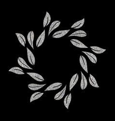 elegant silver textured floral frame vector image