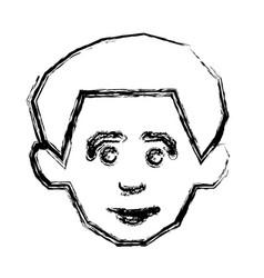 face happy man icon vector image vector image