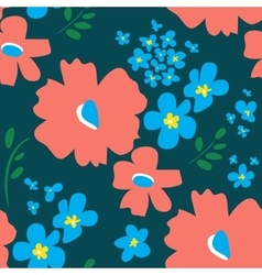 Floral pattern in doodle style vector
