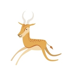 Gazelle Stylized Childish Drawing vector image