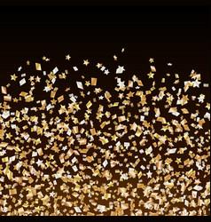 Golden stars confetti border vector