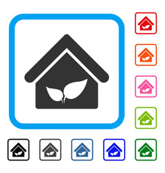 greenhouse framed icon vector image