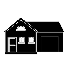 house modern style with garage pictogram vector image vector image
