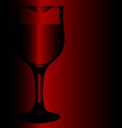lipstick wine glass vector image vector image