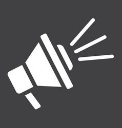 Loudspeaker solid icon megaphone and website vector