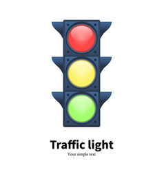 luminous traffic light signal vector image vector image
