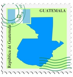 Mail to-from guatemala vector