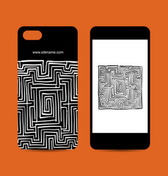 mobile phone design labyrinth square vector image vector image