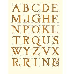 Modern roman alphabet vector