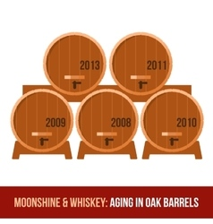 Moonshine and whiskey oak barrel vector