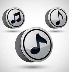Music note icon isolated 3d music theme design vector image