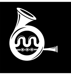 Musical French Horn Icon vector image vector image