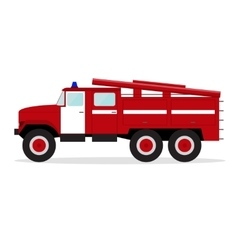 Red Fire Engine vector image vector image