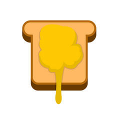 toast with honey icon flat style vector image