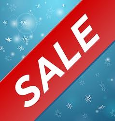 Winter sale big red ribbon vector image vector image