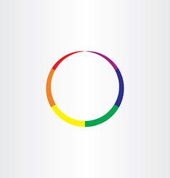 Rainbow circle abstract colorful business icon vector