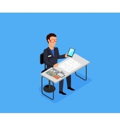 Engineer at work concept vector