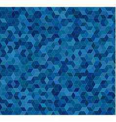 Blue 3d cube mosaic pattern background vector
