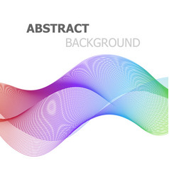 Abstract colorful line wave background vector
