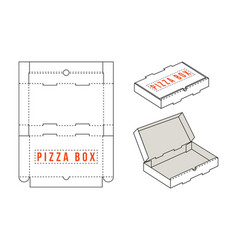 stock rectangular box for pizza slices vector image