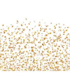 Golden stars flying confetti vector