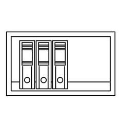 Shelf icon outline style vector