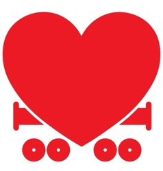 Heart Train vector image