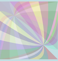Multicolored curved ray burst background - from vector