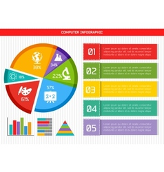 Flat Business Infographic Background vector image