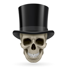 Human skull with hat on vector image