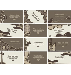 Business card music vector