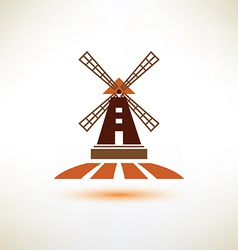 Windmill symbol agriculture concept vector