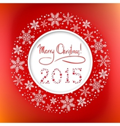 Christmas round frame with congratulation text and vector