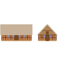 Old barns set vector